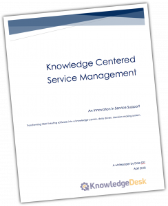 Knowledge-Centered Service Management Whitepaper